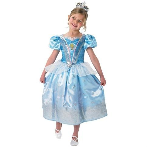 Rubies Prenses Cinderella Çocuk Kostüm 5-6 Yaş Glitter Renkli